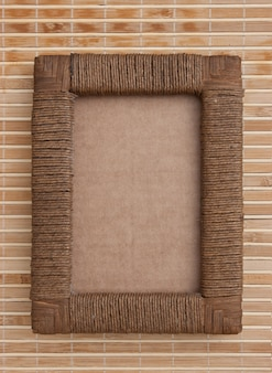 Photo frame on the background mat