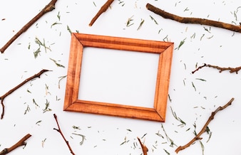 Photo frame between twigs