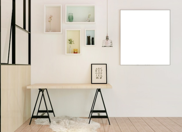 Photo frame on interior room