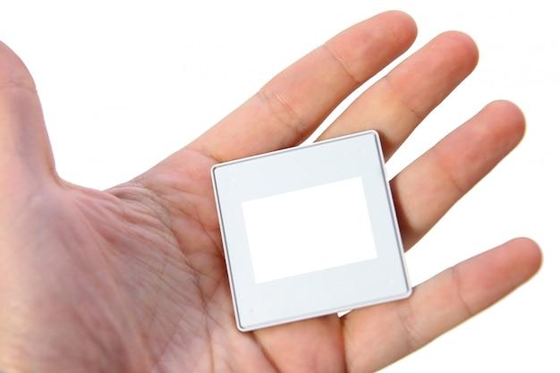 Photo frame for slide in hand.