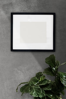 Photo frame on a wall