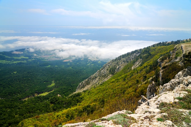 Фото с вершины горы, красивый горизонт