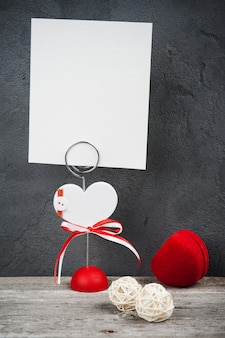 Photo holder with blank card