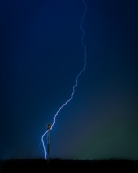 Photo of lightning in the night sky