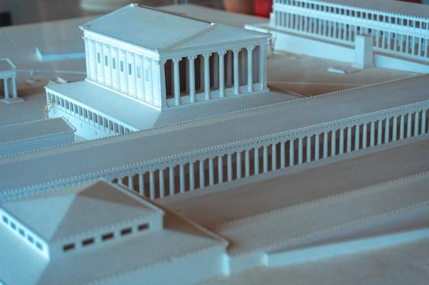 고대 그리스 아크로폴리스의 사진 모델