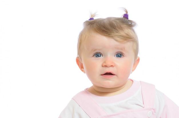 Photo of newborn baby girl crying