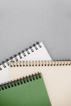 Photo of notepads  with copy space.
