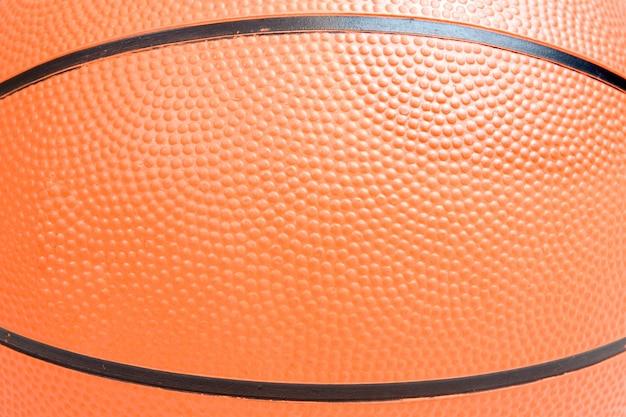 Over white background上の1つのバスケットボールの写真