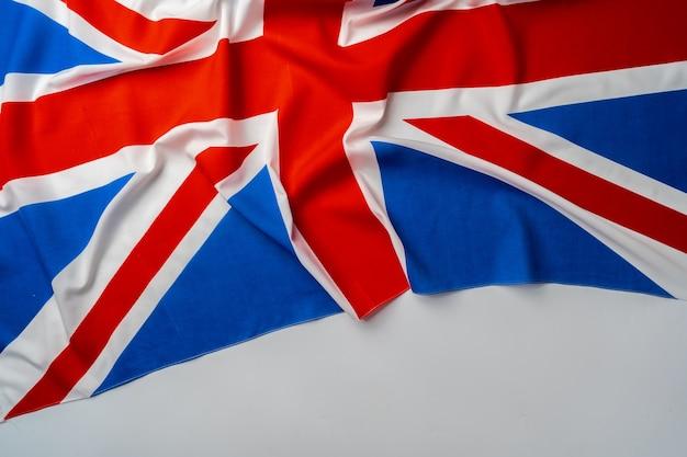 Фото рифленого флага великобритании крупным планом