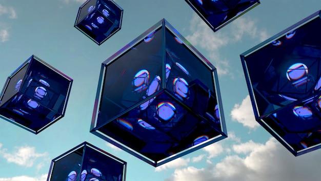 正体不明の紫色のフライングボックスの写真