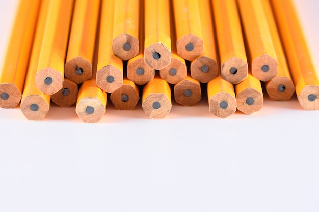 Photo of pencils in white background