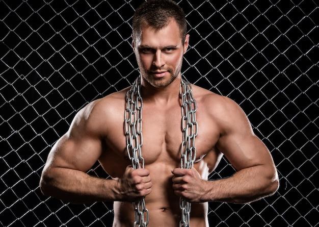 Photo of sporty man