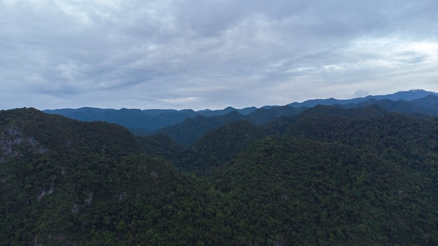 Photo of the view of the bukit barisan in the aceh besar district of aceh indonesia
