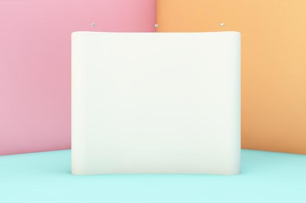 Photocall mockup on colorful corner