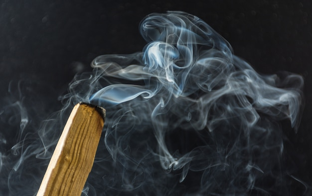 Photograph of smoke caused by various incenses