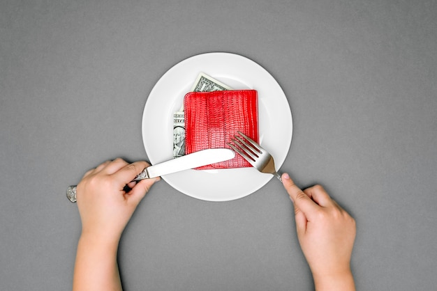 The photograph on the subject of large expenditure on food