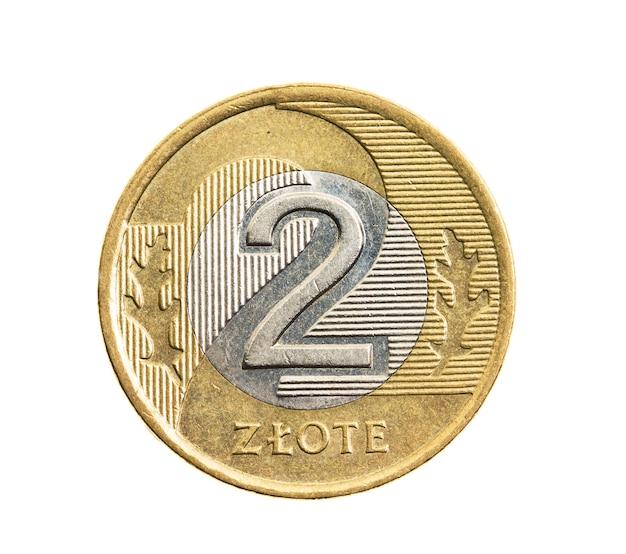 흰색 동전, 폴란드 즐 로티에 근접 촬영