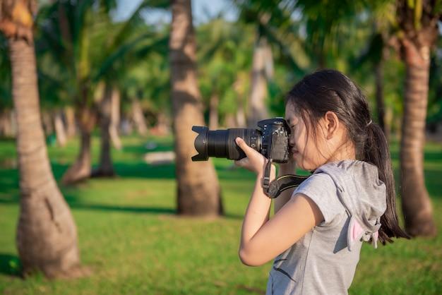Photographer little girl