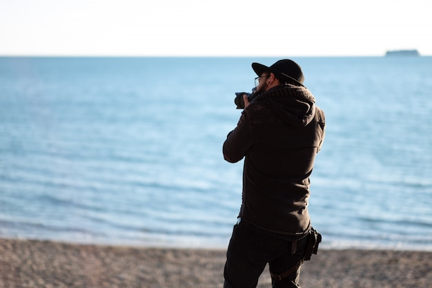Photographer in the sea