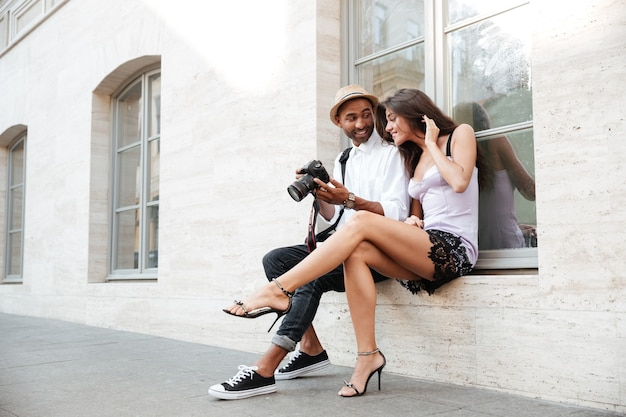 若いモデルの写真家