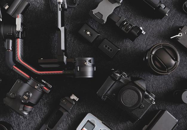 写真家のワークステーション、ジンバルスタビライザー、カメラアクセサリー