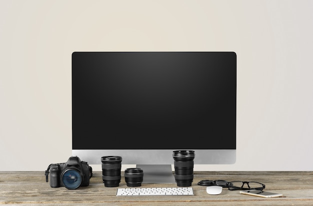 Photographer work station, work space