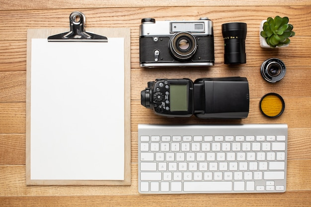 Photographer workspace