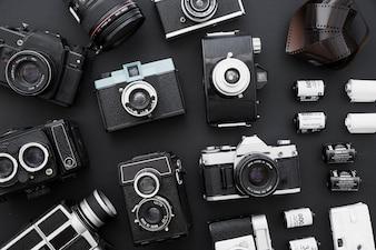 Photographic film near set of cameras