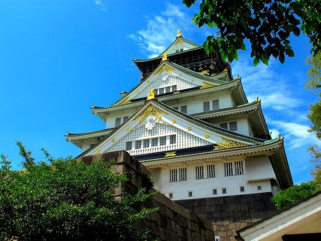 일본 오사카의 오사카 성 사진 일본 역사 랜드마크의 풍경