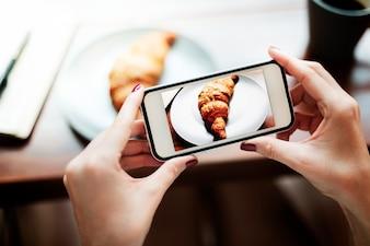 Photography Photo Shot Croissant Bakery Concept