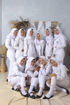 Photos of students after completing education in indonesia