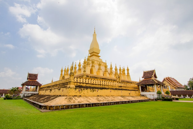 Phra that luang teple in vientiane, laos pdr
