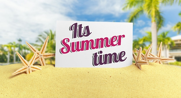 Phrase its summer time on sand