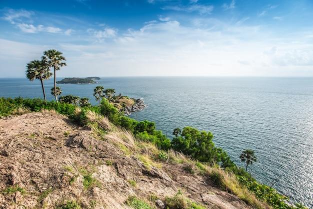 Phromthep cape viewpoint and nice sky in phuket,thailand