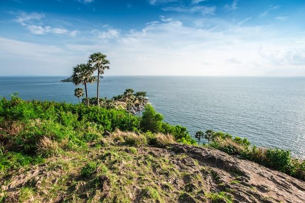 Phromthep岬視点とプーケット、タイの素晴らしい空