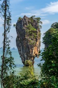 Phuket thailand nature. asia james bond island in phang nga bay.