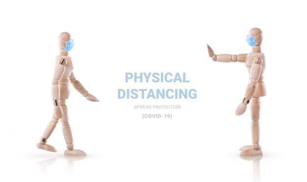 Физическое дистанцирование, чтобы остановить распространение защиты от коронавируса