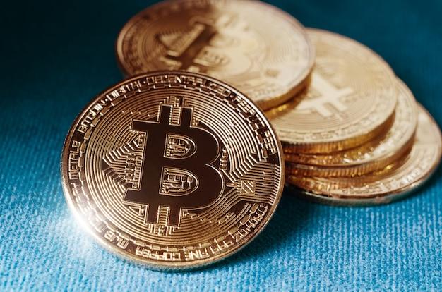 Physical gold bitcoin coin