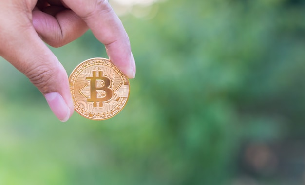 Physical gold bitcoin digital currency