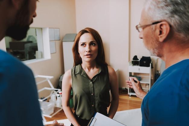 Physicians make diagnosis give prescription