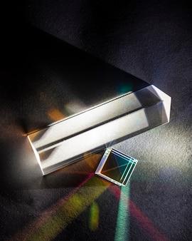 Prisma di rifrazione dei raggi di fisica ottica