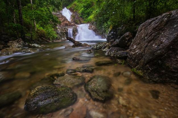 Pi-tu-gro waterfall, beautiful waterfall in tak province, thailand.
