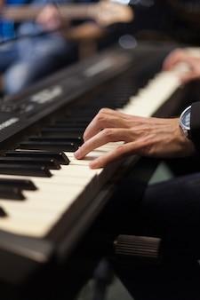 Pianists hands