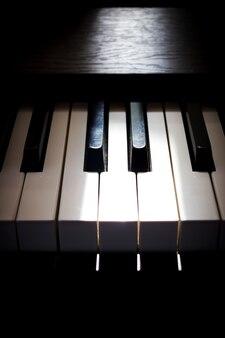 Piano key. Art and music background.