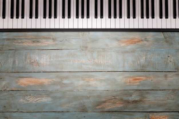 Piano keyboard in wooden