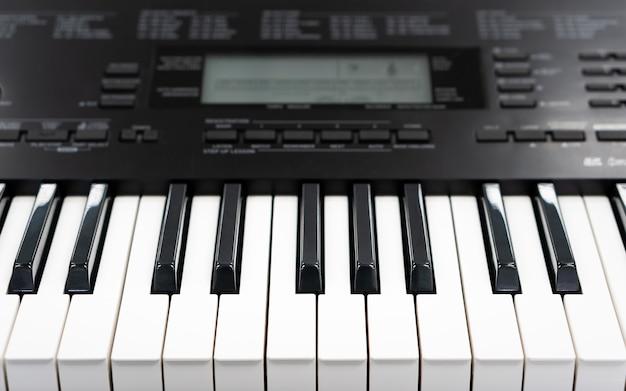 Piano keys electronic midi synthesizer keyboard for creative home studio