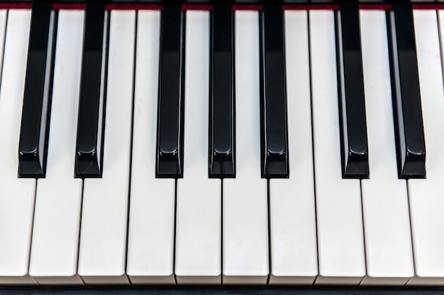 Piano keys on top