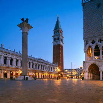 Piazza san marco in venice, italy, early in the morning