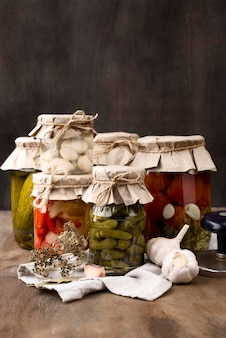 Pickled vegetables arrangement