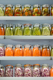 Pickled vegetables.